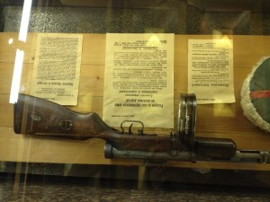 Gun in Memorial Case
