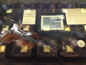 Violin in Memorial Case